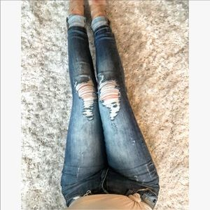 Denim - Courtney Distressed Fade Jeans